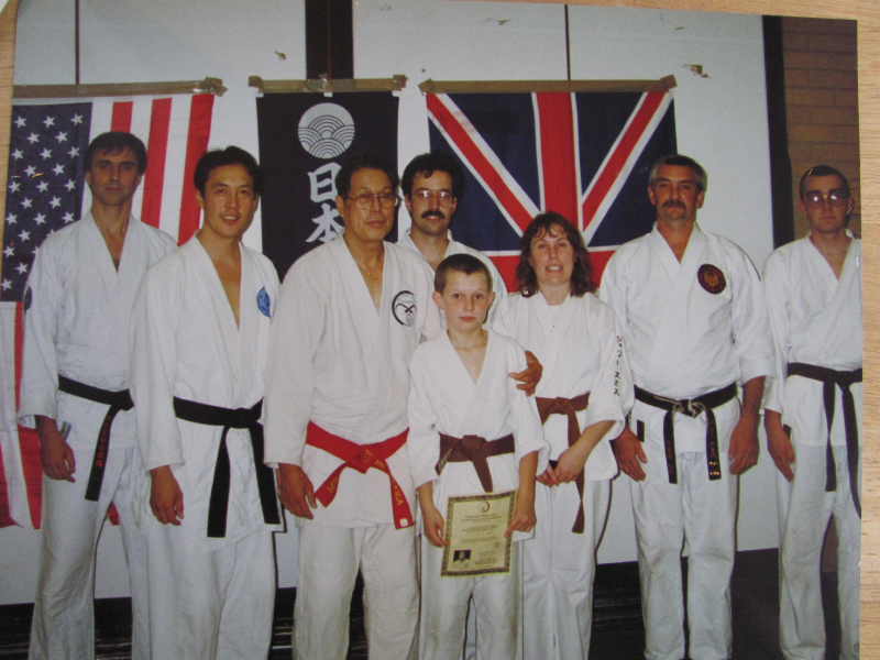 Professor Smith with his Son whilst training with the martiual art legend Professor Wally Jay.